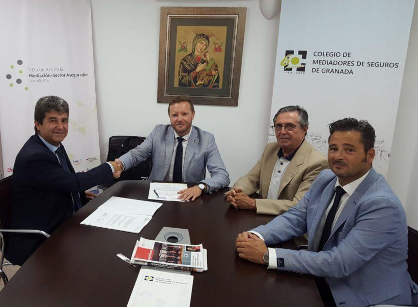 El Colegio de Mediadores de Seguros de Granada y Pelayo Seguros renuevan su acuerdo institucional por un año