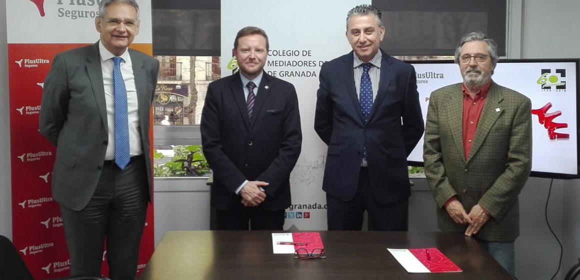 El Colegio de Mediadores de Seguros de Granada y Plus Ultra Seguros renuevan su acuerdo protocolario
