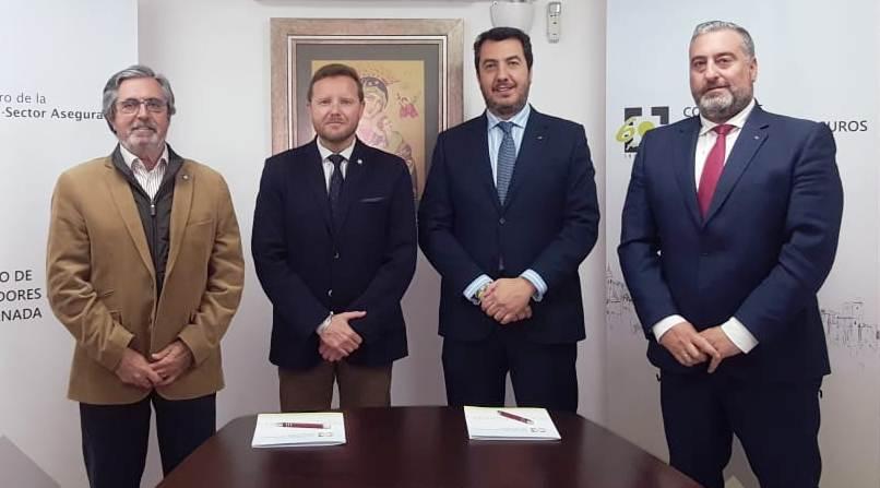 El Colegio de Mediadores de Seguros de Granada y AXA Seguros cierran su convenio de colaboración
