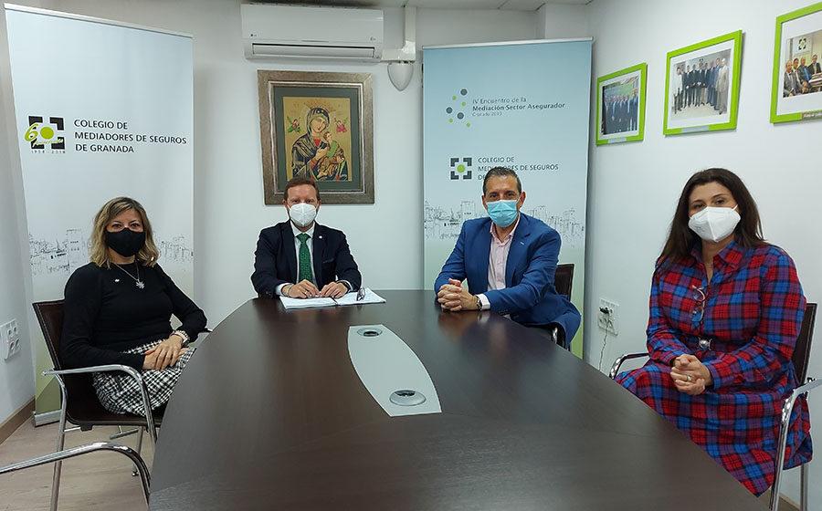 MAPFRE y el Colegio de Mediadores de Seguros de Granada se reúnen en la sede colegial